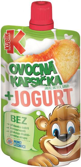 Kubík Kapsička Jablko-BROSKYŇA-Banán s jogurtom 12x80g