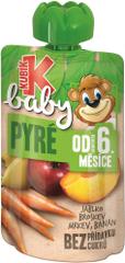 Kubík Baby Jablko-BROSKEV-Mrkev-Banán 12x100g