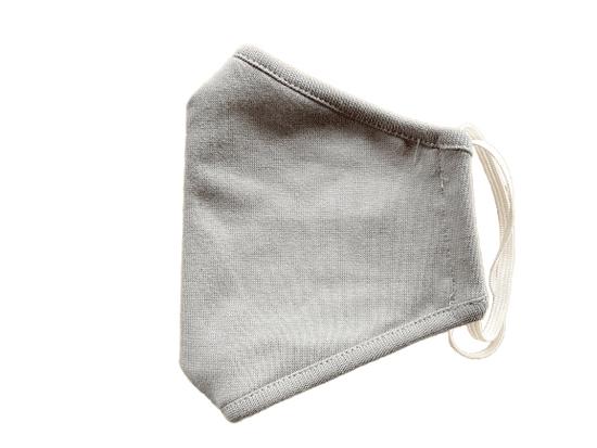 2x Rouška dětská, vel. 2-6 LET, 2 vrstvá, kapsička na filtr, světle šedá