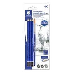 """Staedtler Grafitové akvarelové tužky """"Design Journey Lumograph"""", sada se štětcem, 3 tvrdosti, šestihranné"""
