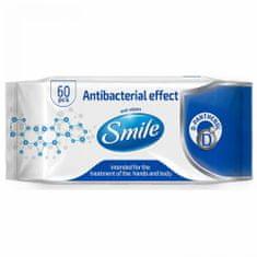 SMILE Vlhčené ubrousky antibakteriální s D-Panthenolem 60 ks