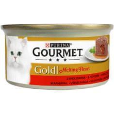 Gourmet Gold Melting Heart goveđa pašteta s umakom za mačke, 24x 85 g