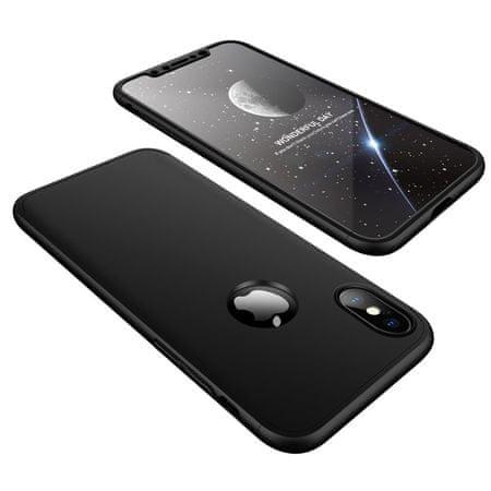 GKK 360 Full Body műanyag tok iPhone XS / X, fekete