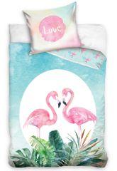 TipTrade Pamut ágyneműhuzat Szerelmes flamingók