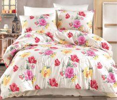 BedTex Obliečky Tulip Smotanové 140x200 / 70x90 cm