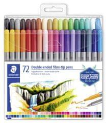 Staedtler Fixy Design Journey, 72 různých barev, sada, oboustranné