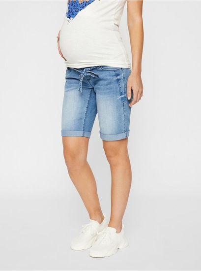 Mama.licious modré těhotenské džínové kraťasy XXL
