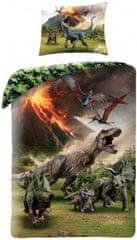 Halantex Povlečení Dinosauři Jurský park - sopka bavlna 140x200 70x90