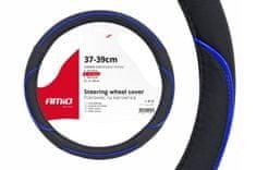 Prevleka za volan črna z modro črto M (37-39cm)