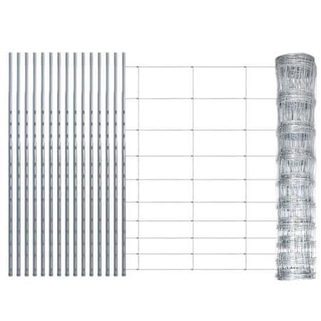 shumee cinkbevonatú vaskerítés oszlopokkal 50 m 120/10/30