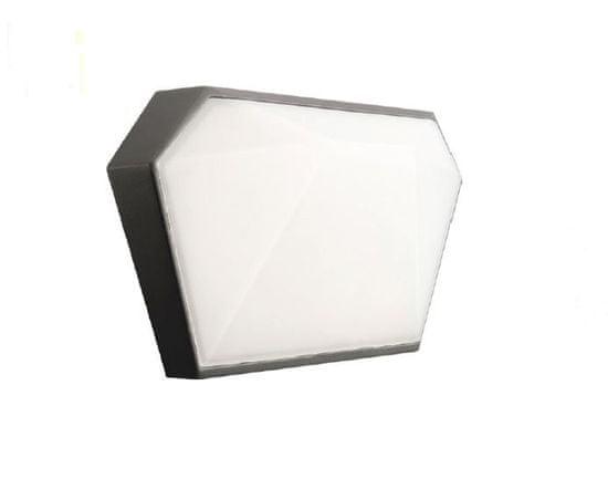 ACA Zahradní nástěnné LED svítidlo LIZIO 10W/230V/3000K/400Lm/120°/IP65, tmavě šedé