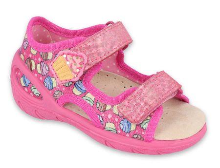 Befado sandały dziewczęce Sunny 065X136 28 różowy