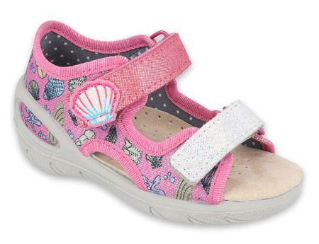 Befado sandały dziewczęce Sunny 065X134 28 różowy