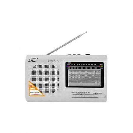 LTC Prenosni radio z MP3 predvajalnikom USB / SD 10W z akumulatorjem 210 x 124 x 57 mm