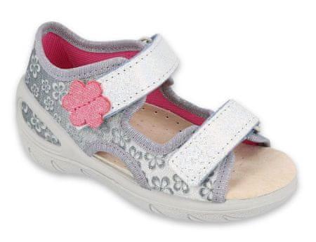 Befado sandały dziewczęce Sunny 065X139 27 szary