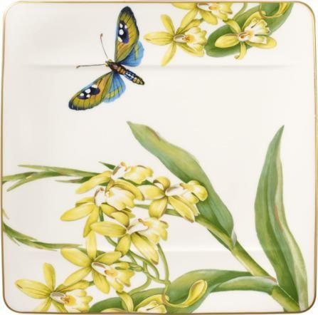 Villeroy & Boch solatni krožnik, 23x23 cm, cvetlični motiv