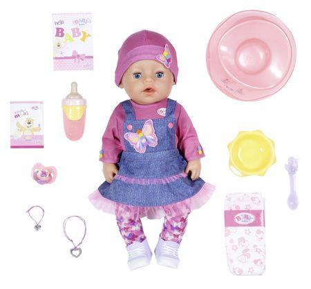 BABY born Soft Touch, djevojčica u denim odjeći, 43 cm