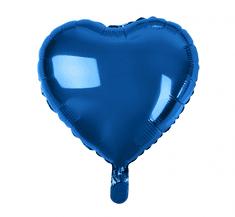 "GoDan Fóliový balón 18"" Modré srdce"