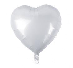 "GoDan Fóliový balón 18"" Biele srdce"