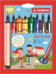 Stabilo Trio Scribbi filctoll szett, rugós hely, 1.5-2 mm