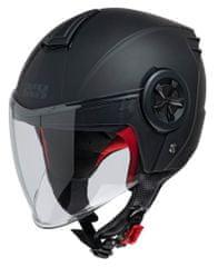 iXS motoristična odprta JET čelada z vizirjem iXS 851 1.0, mat črna