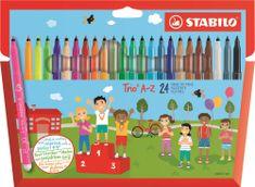 Stabilo Filctoll készlet Trio Frutti A-Z, 24 különböző szín, 0.7 mm