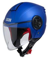 iXS motoristična odprta JET čelada z vizirjem iXS 851 1.0, mat modra