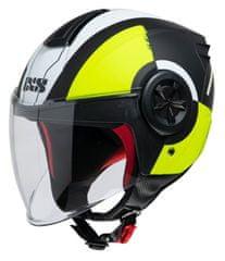 iXS Motoristična odprta JET čelada z vizirjem iXS 851 2.0, črna/rumena
