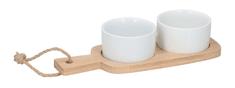 TimeLife Tálalószett finomságokra 22 cm x 8,5 cm porcelán bambusz