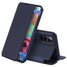 Dux Ducis Skin X knižkové kožené púzdro na Samsung Galaxy A71, modré