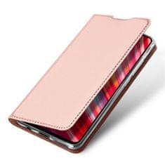 Dux Ducis Skin Pro knížkové kožené pouzdro na Xiaomi Redmi Note 8 Pro, růžové