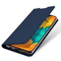 Dux Ducis Skin Pro knížkové kožené pouzdro na Samsung Galaxy A20e, modré