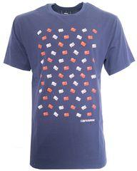 Converse Modré triko s potiskem vlajek Converse Velikost: M