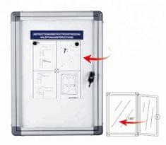 Informační vitrína s magnetickým povrchem, 67 x 70 cm, 6xA4