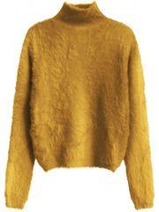 Amando Žltý dámsky krátky chlpatý sveter 466ART