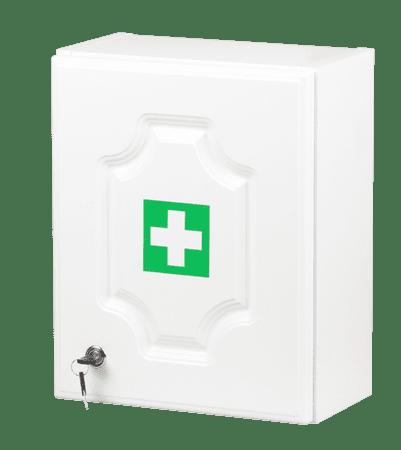 ŠTĚPAŘ Stenska omarica za prvo pomoč LUX za 10 oseb – bela