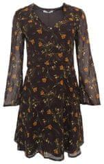 Mango Šaty s hnedými kvetmi Mango Hnedá S