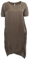 YAYA Kombinované šaty s vreckami Yaya Khaki M
