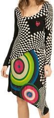 Desigual Vzorované šaty Desigual s korálky Barva: Černá, Velikost: M