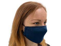 Rouška DÁMSKÁ, tmavě modrá ( NAVY ), 2 vrstvá, kapsička na filtr, velikost dámská ( S )