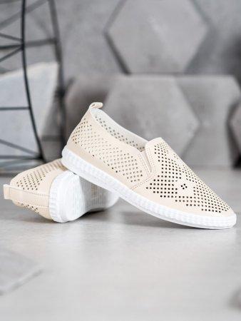 Nőitornacipő 65259 + Nőin zokni Gatta Calzino Strech, bézs és barna árnyalat, 37