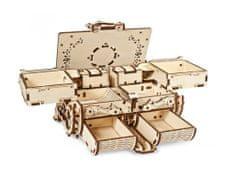 UGEARS Amber Box 3D mechanické puzzle 189 dielov