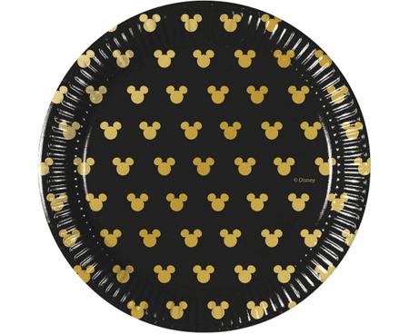 """GoDan Plošče za enkratno uporabo EKO """"Mickey & Minnie mouse"""" zlato 20 cm - 8 kos"""