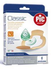 PIC Classic antibakterijski obliž, za sklepe, 4 kosi