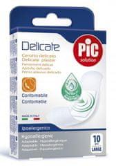 PIC Delicate antibakterijski obliž, L, 10 kosov