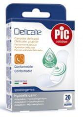 PIC Delicate antibakterijski obliž, M, 20 kosov