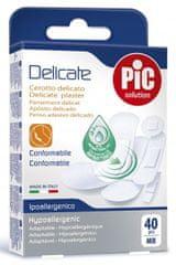 PIC Delicate Mix antibakterijski obliž, 40 kosov