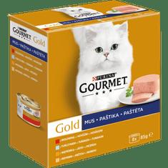 Gourmet Gold Multipack 12x(8x85g) - pasztety