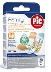 PIC Family Mix antibakterijski obliž, 20 kosov