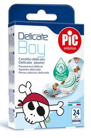 PIC Delicate Boy antibakterijski obliž, M, 24 kosov